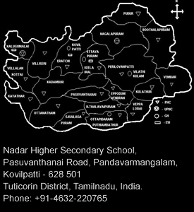 Nadar Higher Secondary School Map Address Kovilpatti